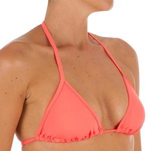 Bikini-Oberteil Triangel Mae verschiebbar mit Cup-Schalen koralle
