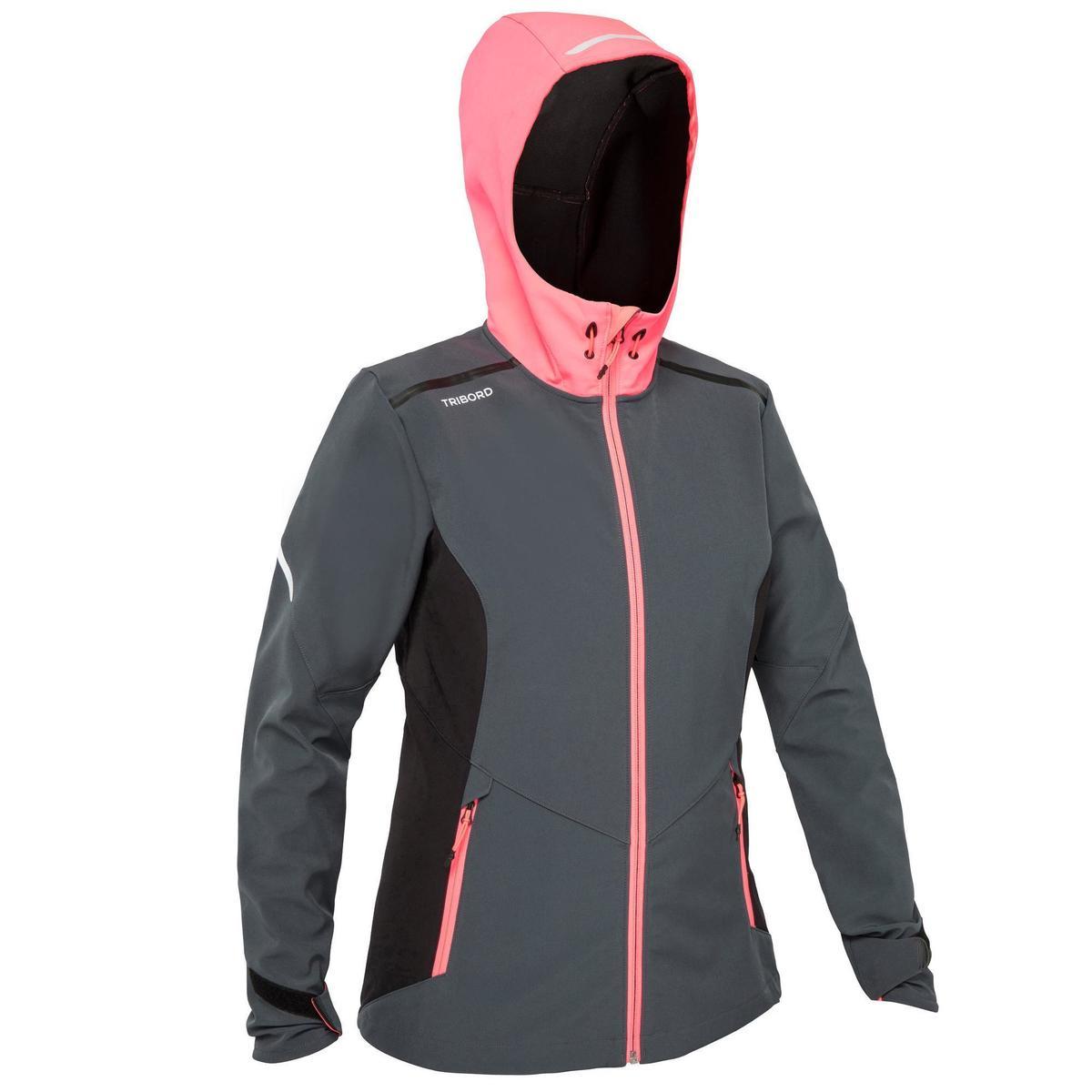 Bild 1 von Softshelljacke Segeln Race Damen grau/neonrosa