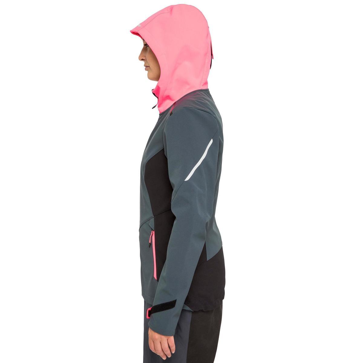 Bild 4 von Softshelljacke Segeln Race Damen grau/neonrosa