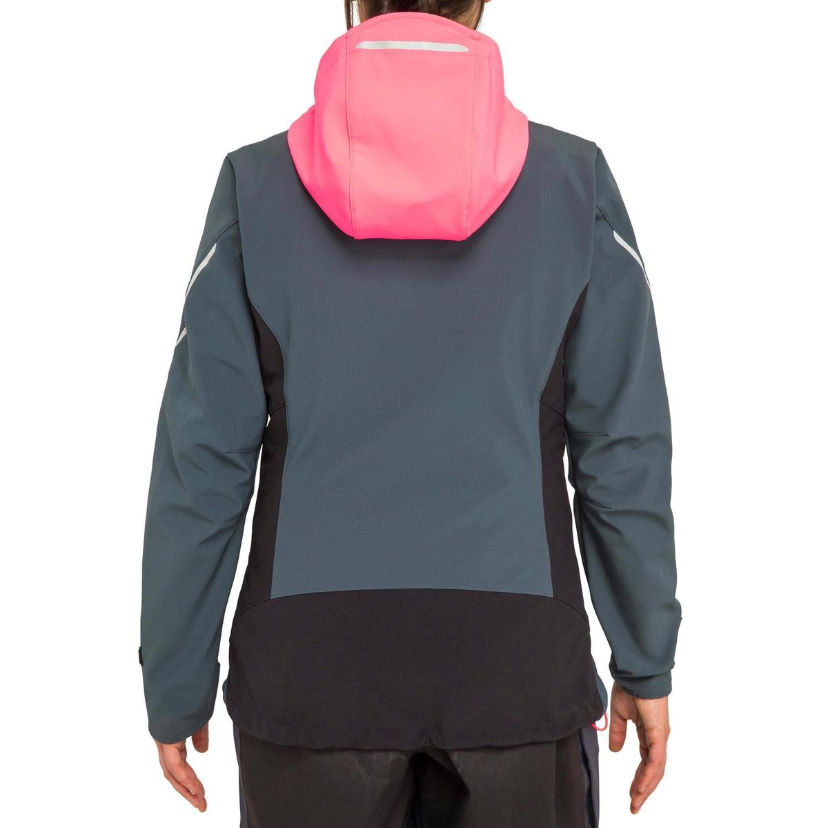 Bild 5 von Softshelljacke Segeln Race Damen grau/neonrosa