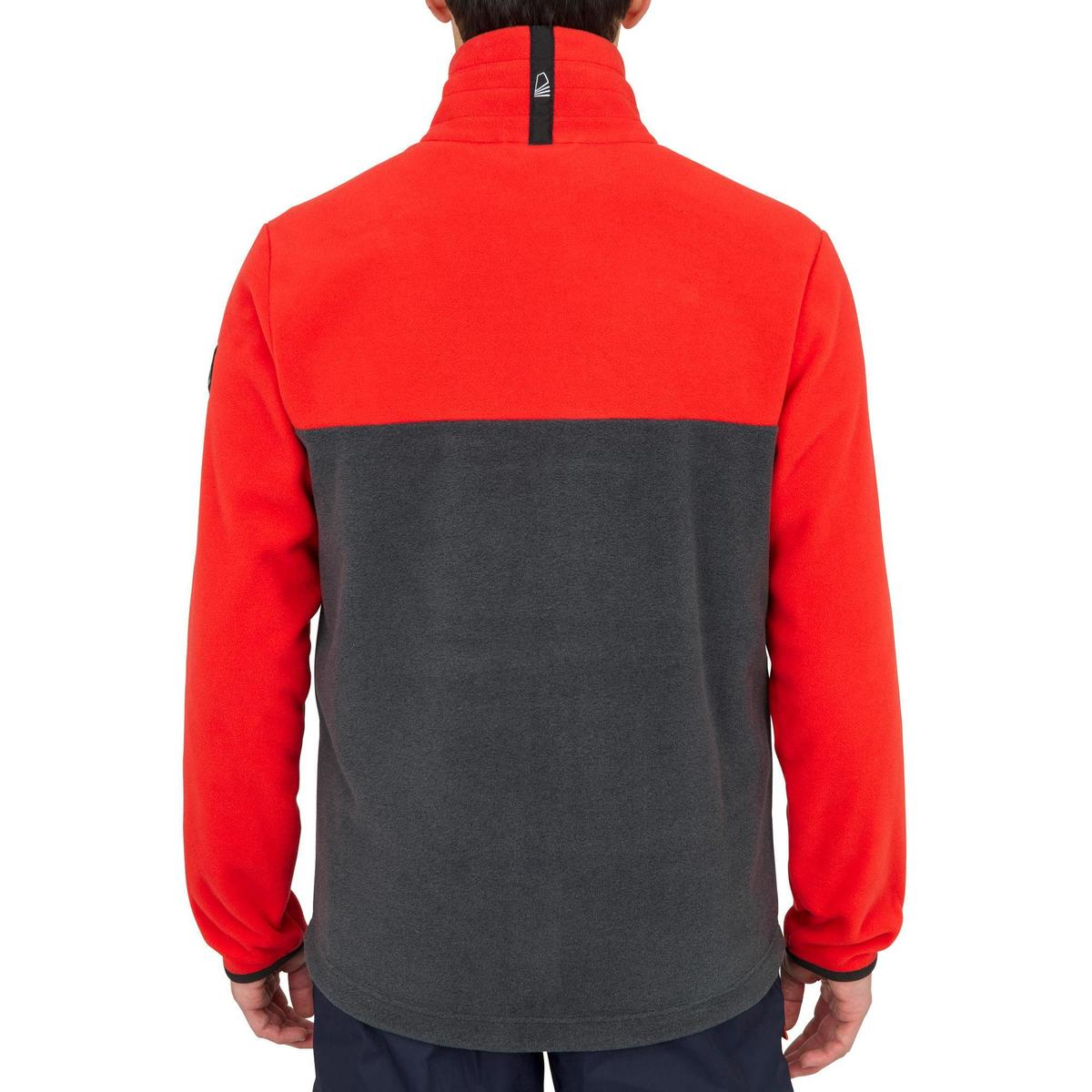 Bild 5 von Fleecejacke Segeln Race Herren grau/rot
