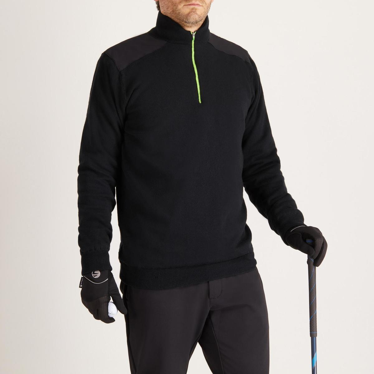 Bild 2 von Golf Pullover winddicht warm Herren schwarz
