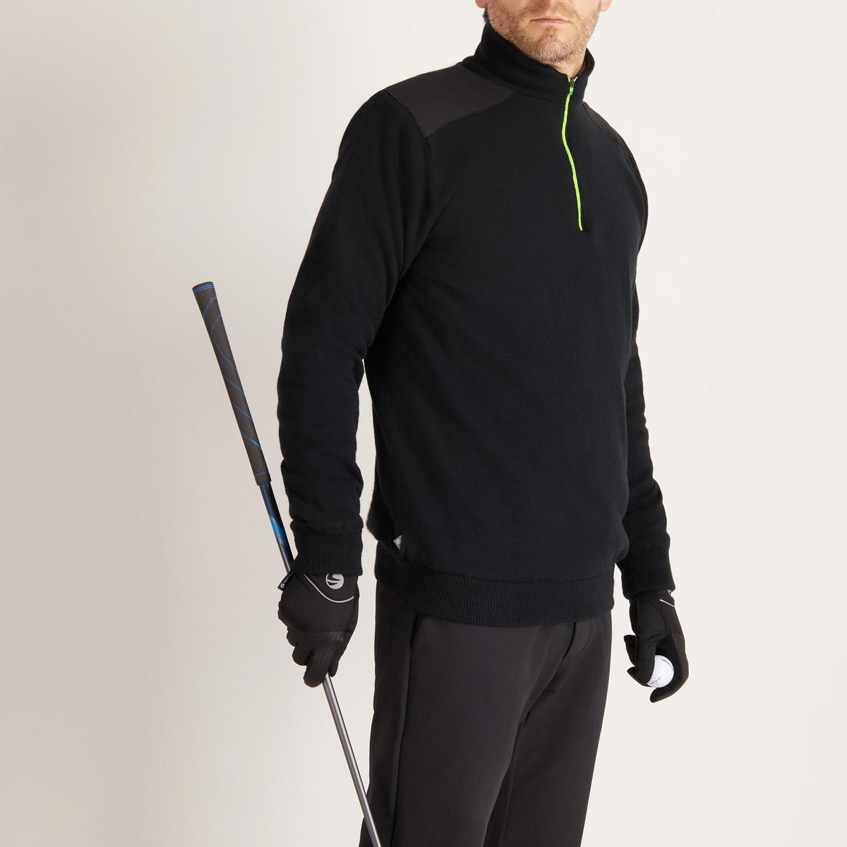 Bild 3 von Golf Pullover winddicht warm Herren schwarz