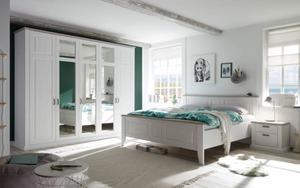 Schlafkontor - Schlafzimmer Lima in weiß/taupe