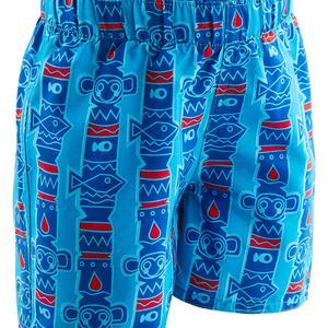 Badeshorts Baby Jungen Print All Totem blau