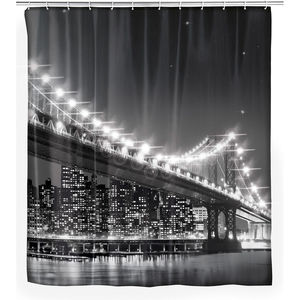 "WENKO LED Duschvorhang ""Brooklyn Bridge"""