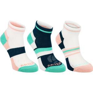 Tennissocken RS 160 Mid 3er Pack Kinder rosa/grün