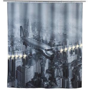 """WENKO LED Duschvorhang """"Old Plane"""""""