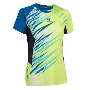 T-Shirt 860 Badminton Damen gelb/blau