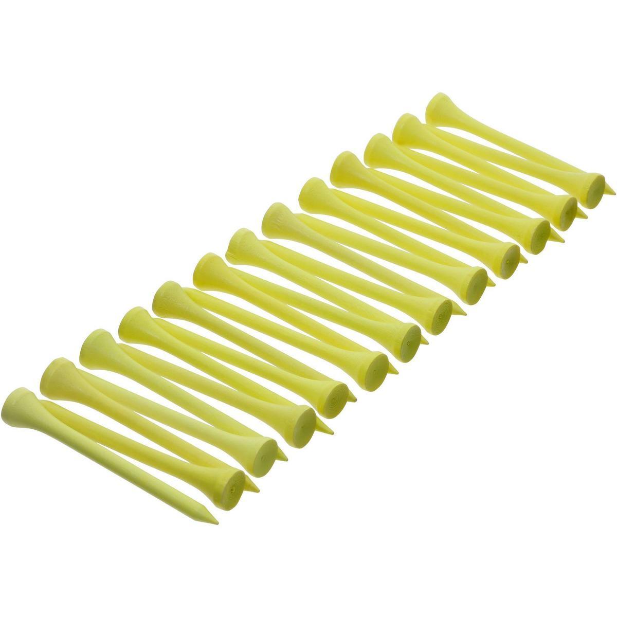 Bild 2 von Golf Holz-Tees 69 mm 25 Stück gelb