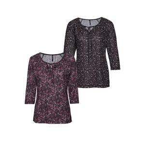 Laura Torelli COLLECTION Damen-Shirt mit künstlerischem Muster