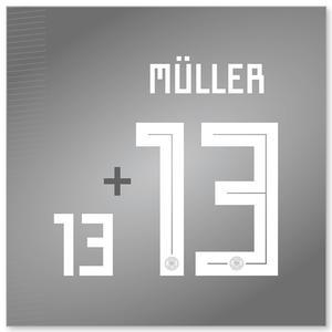 Flock Müller Nr.13 Away Erwachsene für grünes Deutschlandtrikot WM 2018