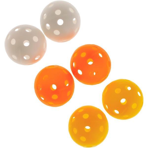 Golfbälle perforiert 6 Stück