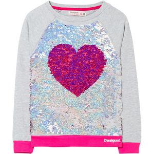 Desigual Mädchen Sweatshirt mit Wendepailletten