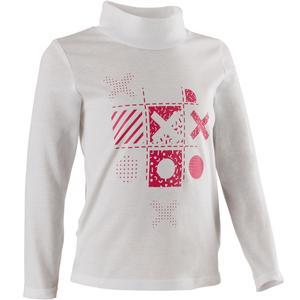Langarmshirt 500 Gym 2er-Pack Baby weiß/rosa