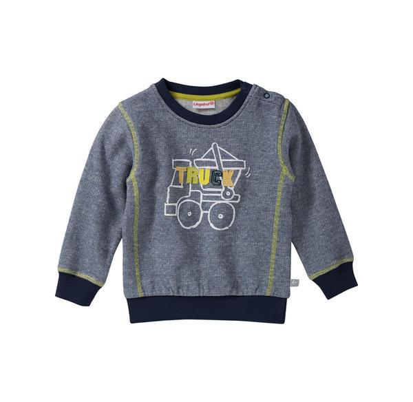 Liegelind Baby-Jungen-Sweatshirt mit Fahrzeug-Frontaufdruck