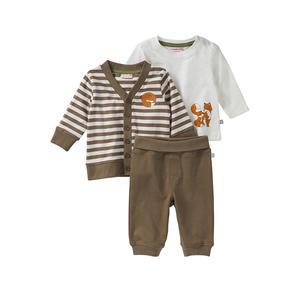 Liegelind Baby-Jungen-Set mit Strickjacke, 3-teilig