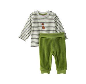 Liegelind Baby-Jungen-Set mit Fuchs-Frontaufdruck, 2-teilig