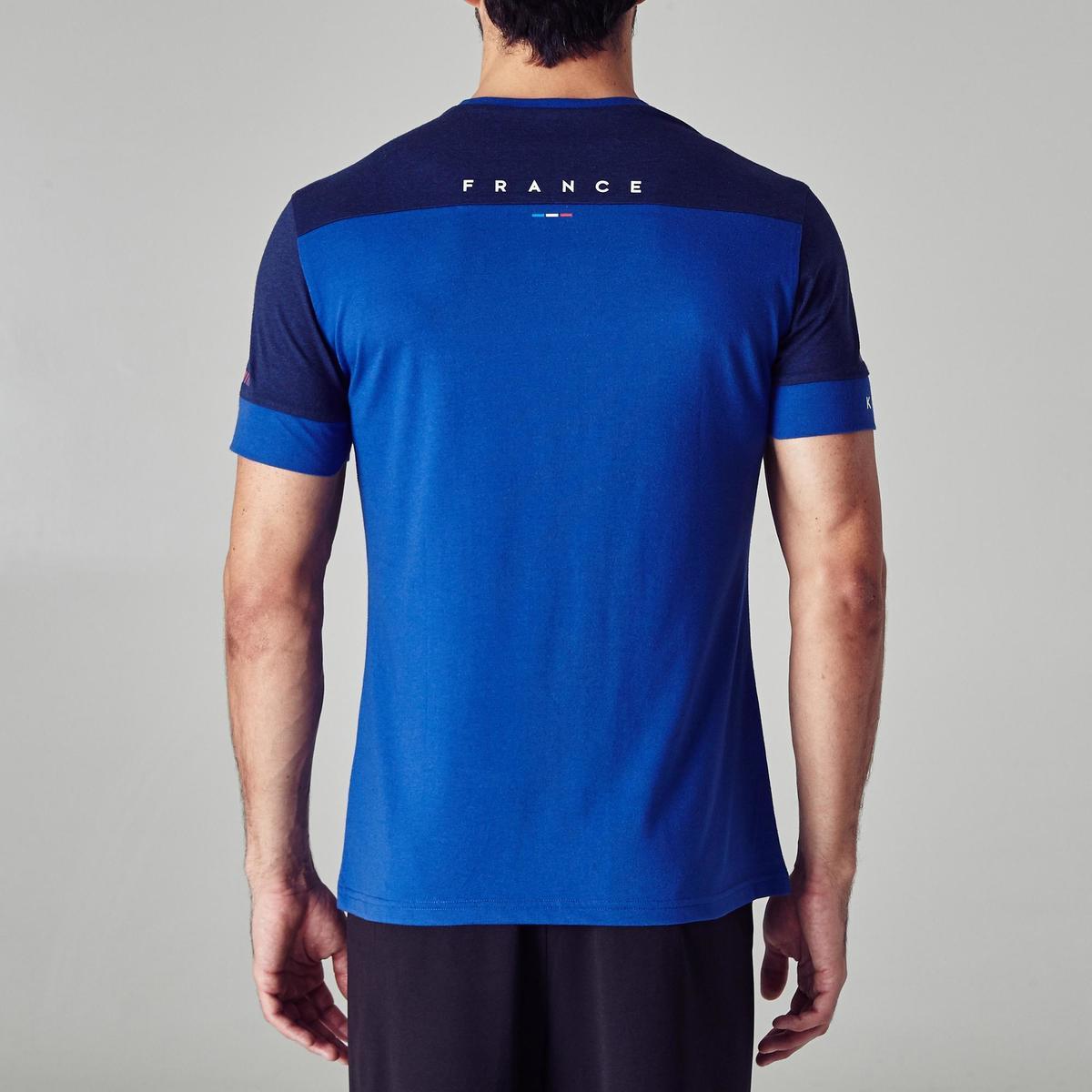 Bild 4 von Fußballshirt FF100 Frankreich Erwachsene blau