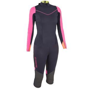 Neoprenanzug 1 mm mit UV-Schutz Segeln Jolle/Katamaran Damen dunkelblau/rosa