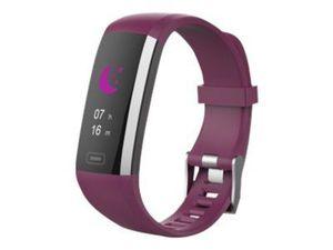 SWISSTONE SW 600 HR lila Fitnessarmband BT IP67 Herzfrequenz-, Blutdruck- Blutsauerstoffmessung Mitteilungen für Anrufe Email WA