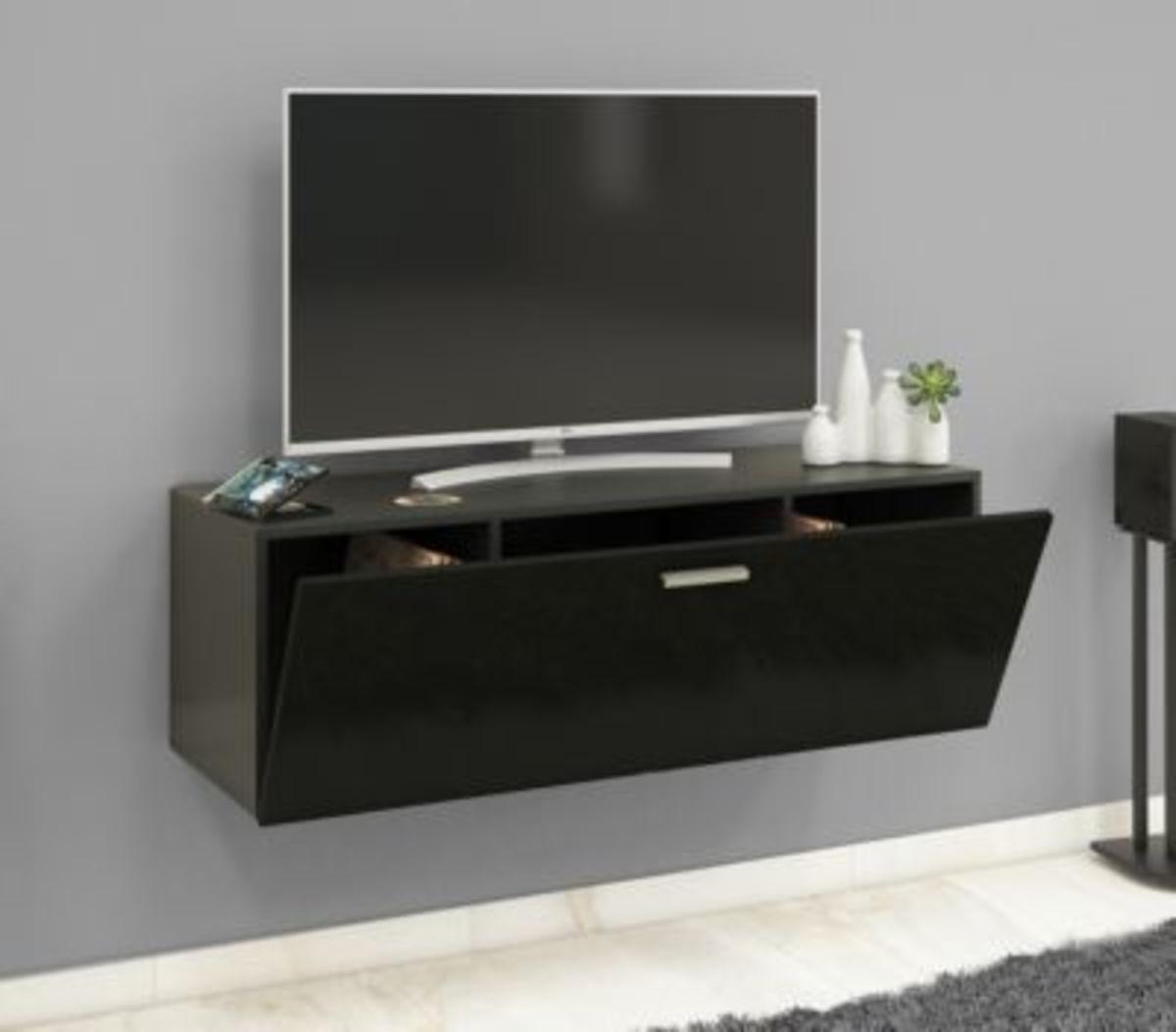 """Bild 2 von VCM TV Wand Board Fernsehtisch Lowboard Wohnwand Regal Wandschrank Schrank Tisch Hängend """"Fernso"""" VCM TV-Wand-Lowboard """"Fernso"""" (Farbe: B. 115cm: Schwarz)"""