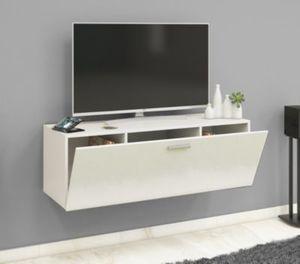 """VCM TV Wand Board Fernsehtisch Lowboard Wohnwand Regal Wandschrank Schrank Tisch Hängend """"Fernso"""" VCM TV-Wand-Lowboard """"Fernso"""" (Farbe: B. 115cm: Weiß / Schwarz)"""