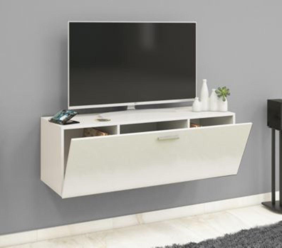 """Bild 1 von VCM TV Wand Board Fernsehtisch Lowboard Wohnwand Regal Wandschrank Schrank Tisch Hängend """"Fernso"""" VCM TV-Wand-Lowboard """"Fernso"""" (Farbe: B. 115cm: Weiß / Schwarz)"""