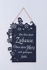 """Metallschild """"Zuhause"""""""