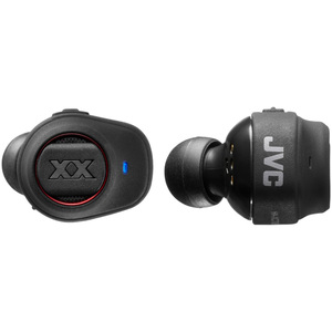 JVC HA-XC70BT-BE (schwarz) - Bluetooth In-Ear Kopfhörer (1-Tasten-Fernbedienung, integriertes Mikrofon)