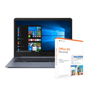 "Asus VivoBook L406MA-BV157TS / 14"" HD / Intel Celeron N4000 / 4GB / 64GB EMMC / Windows 10 S inkl. Office 365 Personal"