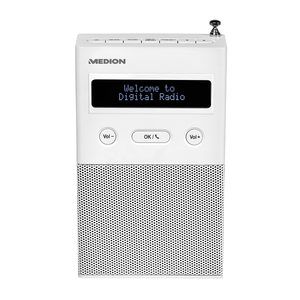 MEDION LIFE® P65715 DAB+ Steckdosenradio mit Bluetooth®, LCD-Display, 2 Watt RMS, DAB+, PLL UKW, Radio Data System