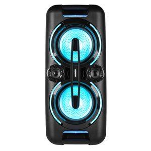 MEDION LIFE® X61555 Party Sound System, PLL UKW, X-Bass, Mikrofonanschluss, Kabellose Musikübertragung, verschiedene Beleuchtungseffekte