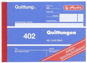 Herlitz 402 Quittungsblock A6 - 10 x 2 x 40 Blatt