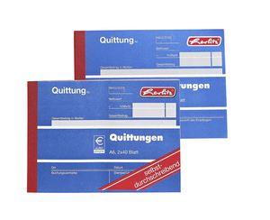 Herlitz 403 Quittungsblock A6 - 10 x