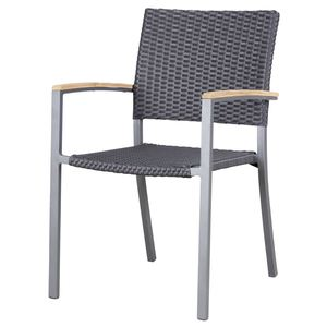 METRO Professional Stuhl Teak mit Armlehnen