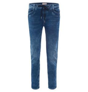 "Street One             Jeans ""Bonny"", Loose Fit, Kordelzug, Crinkle-Optik"