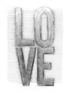 Kayoom Aluminium Wandbild Love 80x100 COL300