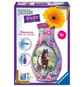 Ravensburger             3D Puzzle Girly Blumenvase Pferde