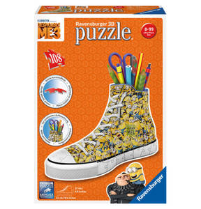 """Ravensburger                Minions                 3D Puzzle """"Sneaker"""", 108 Teile"""