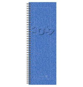 BRUNNEN             Vormerkkalender 10x30cm blau 2S/1W                 (2 Stück)