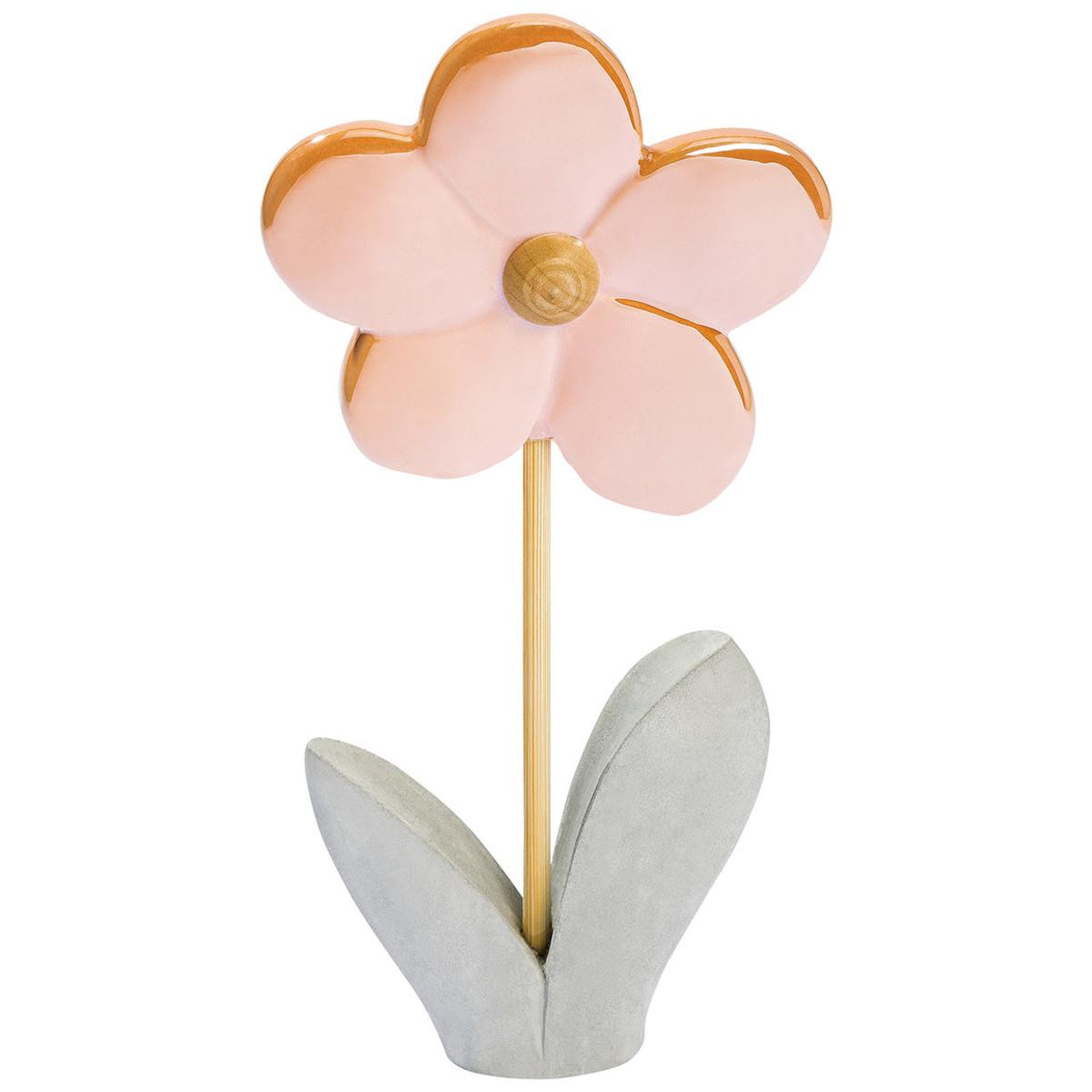 Bild 1 von Deko-Blume mit Zementfuß