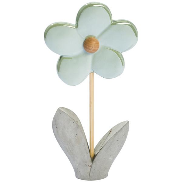 Deko-Blume mit Zementfuß