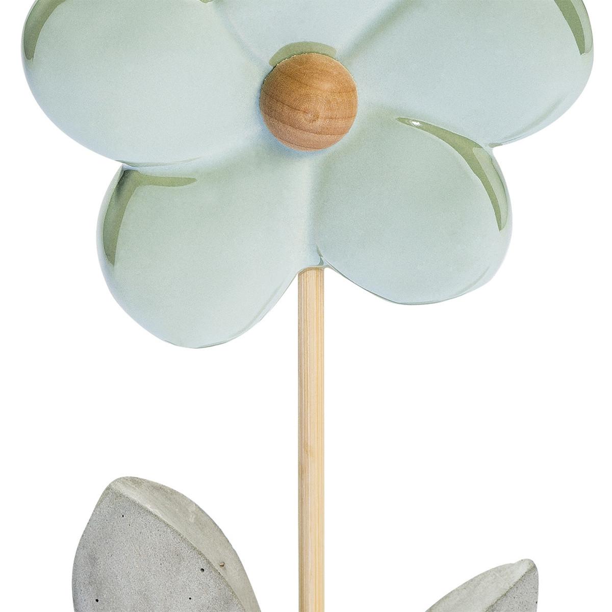 Bild 2 von Deko-Blume mit Zementfuß