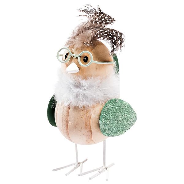 Deko-Vogel mit Federn