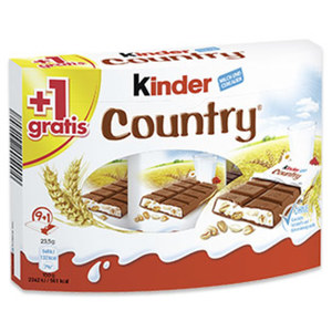 Kinder Country 9er + 1 Riegel gratis, jede 235-g-Packung