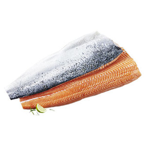 Frisches Lachsfilet MH vakuumverpackt Aquakultur, Nordostatlantik,   jede 1-kg-Seite