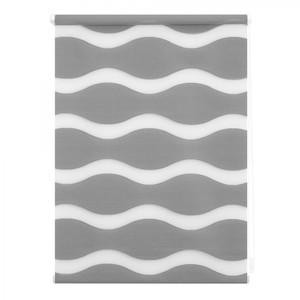 Lichtblick Duo Rollo Welle Klemmfix, ohne Bohren, Grau, 60 cm x 150 cm (B x L)