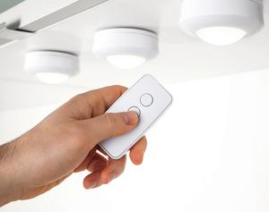 Müller Licht LED-Beleuchtungsspot 3er mit Funk Fernbedienung