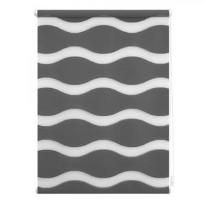 Lichtblick Duo Rollo Welle Klemmfix, ohne Bohren, Anthrazit, 80 cm x 150 cm (B x L)